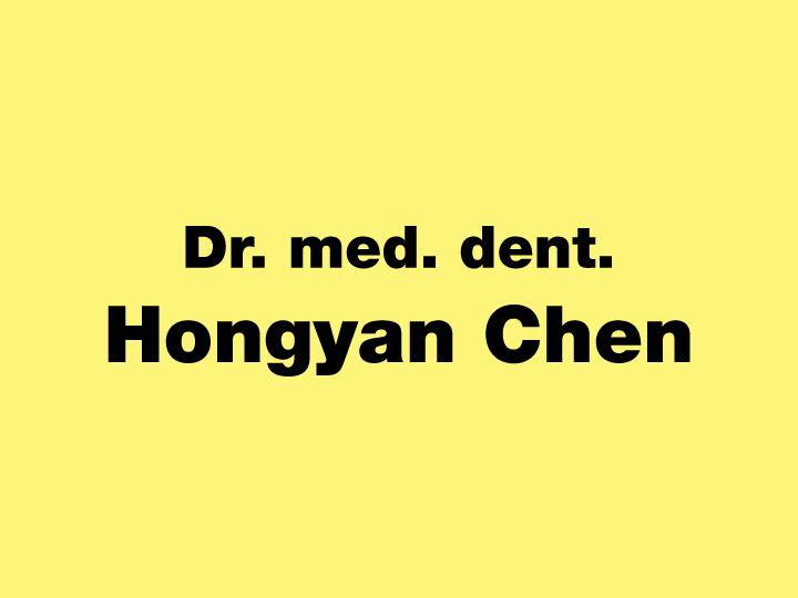 Chen Hongyan Dr.